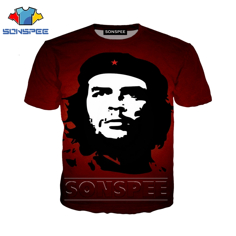 Anime 3d Print T Shirt Streetwear Che Guevara Men Women Suit Fashion T-shirt Kids Harajuku Tees Funny Shirts Homme Tshirt A78