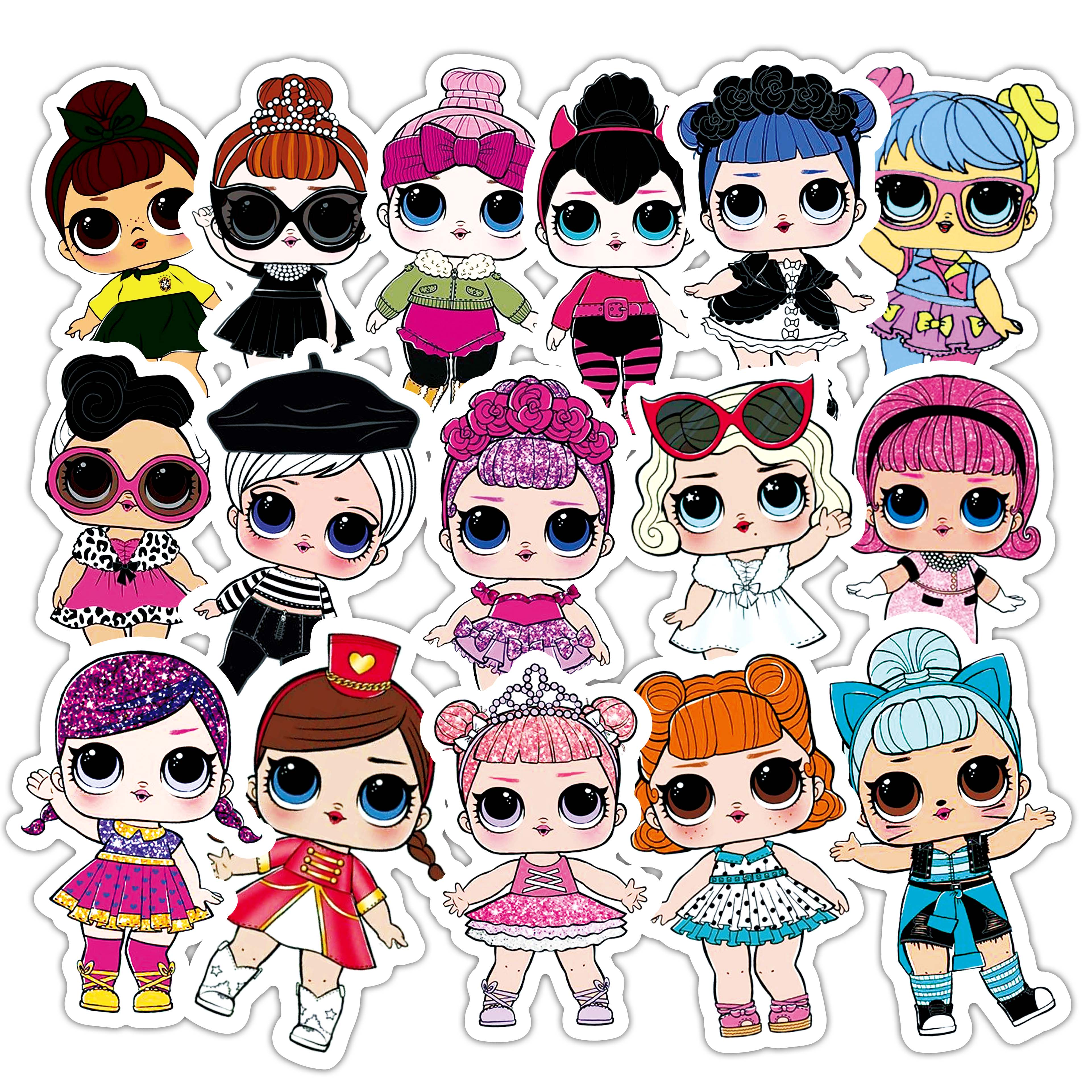 70PCS Pack Cute Doll Kawayi Stickers Set Cartoon Stickers For Kids Luggage Skateboard Laptop Anime Stickers Lot For Children