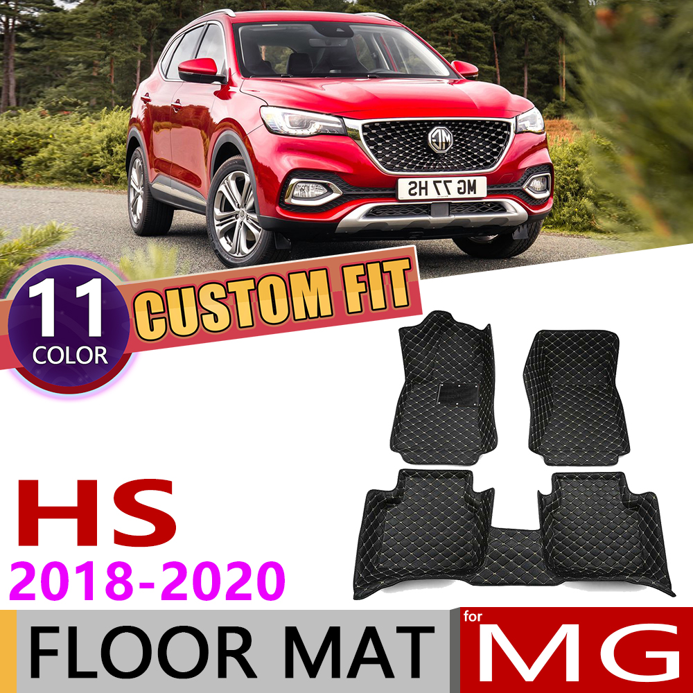 Custom Car Leather Floor Mats For MG HS 5 Seats 2018 2019 2020 Waterproof Anti-dirty Auto Foot Pad Carpet Cover Accessories