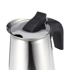 Image 5 - 200/450ml portátil máquina de café expresso moka pote aço inoxidável com fogão elétrico filtro percolador cafeteira chaleira pote