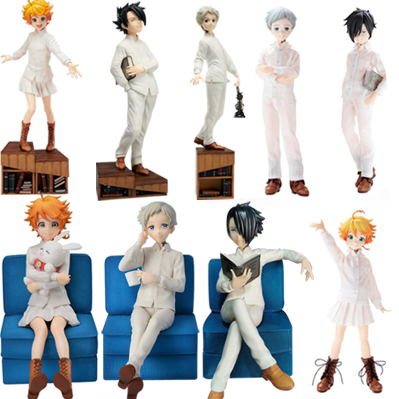 Anime SEGA PM The Promised Neverland Emma Norman Ray PVC Action Figure Toy The Promised Neverland Figural Collectible Model Doll