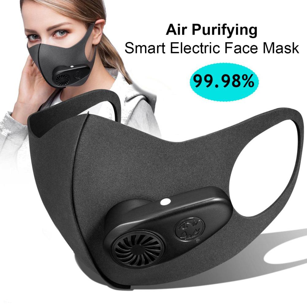 Reusable Electric PM2.5 Dust Proof Anti Haze Sports Mouth Mask with Breather Valves Dropshipping In stock fast shipments