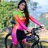 Vezzo manga longa triathlon verão correndo natação ciclismo ciclismo macaquinho feminino mtb roupas equipe pele terno 12