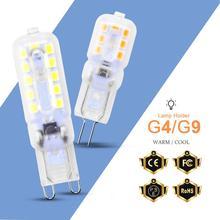 Best quality G4 LED Bulb G9 Foco Lame SMD 2835 Dimming Replace Halogen Lighting Lights Spotlight Chandelier Bombillas 220V