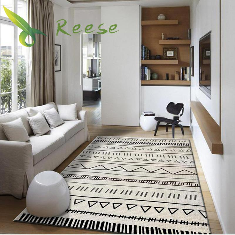 Geometric Modern Art Living Room Carpets Home Nordic Bedroom Bedside Blanket Area Rug Large Soft Study Room Teppich Rugs Floor