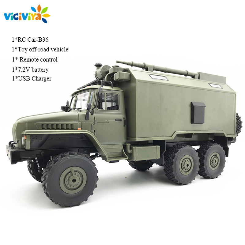 NEW WPL B36 Ural 1 16 2 4G 6WD Rc Car Military Truck Rock Crawler With