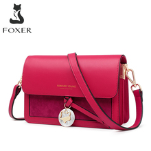 FOXER Casual Lady Small Crossbody Bags Cow Leather Women Shoulder Messenger Bag Large Capacity Brand Girl's Stylish Mini Purse