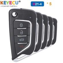 KEYECU 5ชิ้น/ล็อต,KEYDIY B Series B21 4 Universal KDรีโมทคอนโทรลKey 4ปุ่ม สำหรับKD900 KD900 + URG200 KD X2 Mini KD