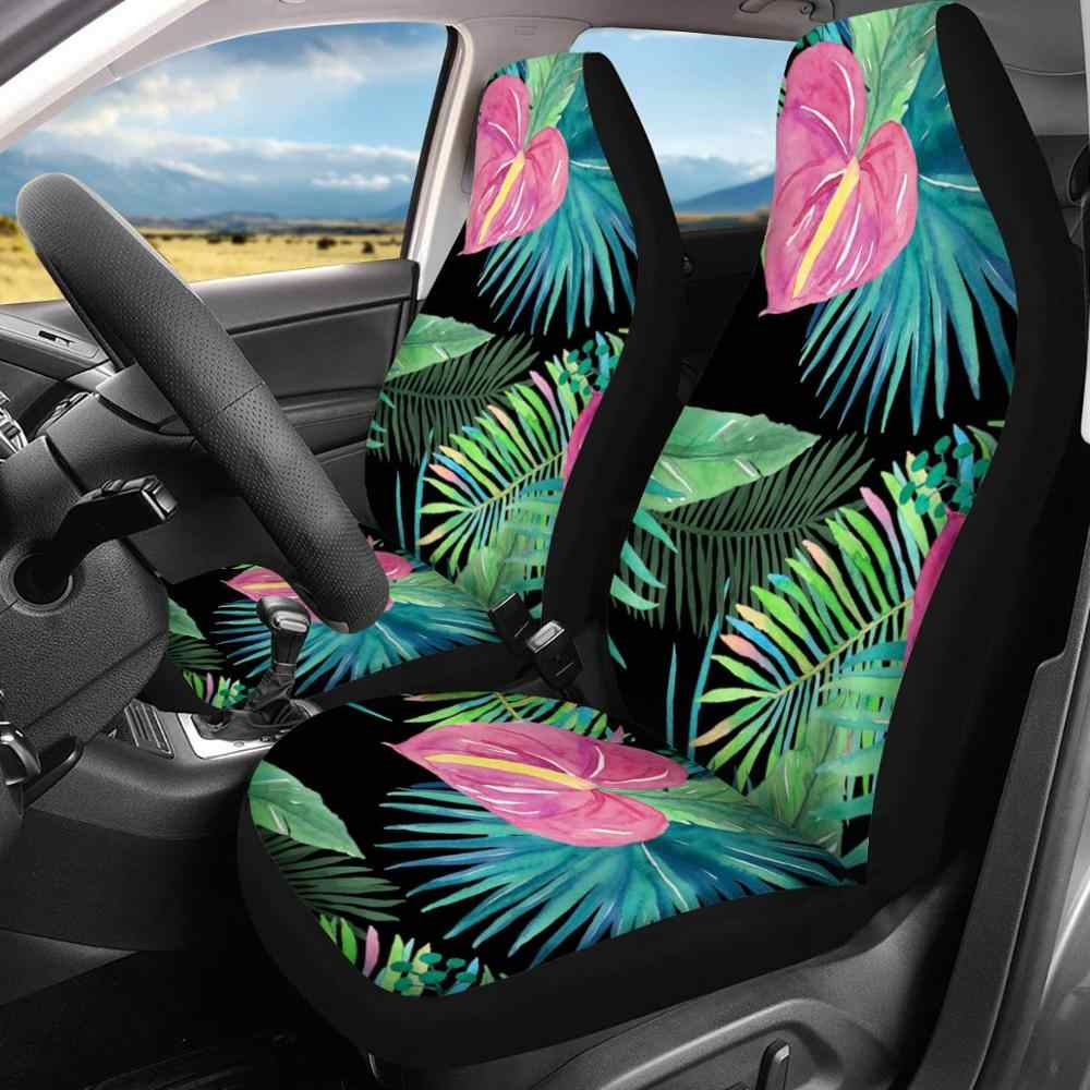 INSTANTARTS Rainbow Tie Dye Print Fashion Auto Interior Decoration Seat Covers,Front//Rear Seat Cushions