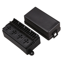 12 Way Blade Fuse Holder Box with Spade Terminals for Car Truck Trailer and Boat