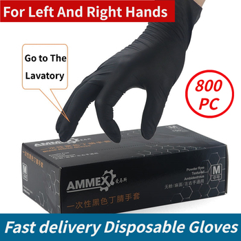 100PC nitrylowe jednorazowe rękawice wodoodporne lateks bezproszkowy rękawice do gospodarstwa domowego kuchnia laboratorium rękawice do sprzątania domu tanie i dobre opinie CN (pochodzenie)