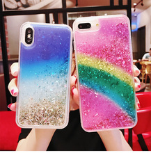 Glitter Phone Case For iphone Max X XR XS MAX Liquid Quicksand Cover 5 5S SE 6S 6 7 8 Plus Bling Sequins Coque Funda for iPhone #25