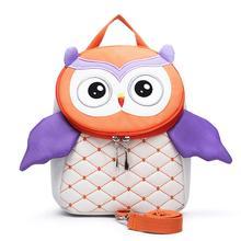 Aged 1-5 Anti-Lost Toddler Backpack Kids Baby Bag Cartoon 3D Owl Pattern Kindergarten School Bag Boys Girls Mochila Infantil