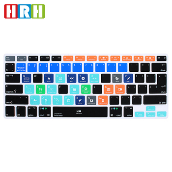 "HRH FL Studio Fruity Loops Functional Shortcut Hotkey Silicone Keyboard Cover Skin for Macbook Air Pro Retina 13"" 15"" 17"" EU/US"
