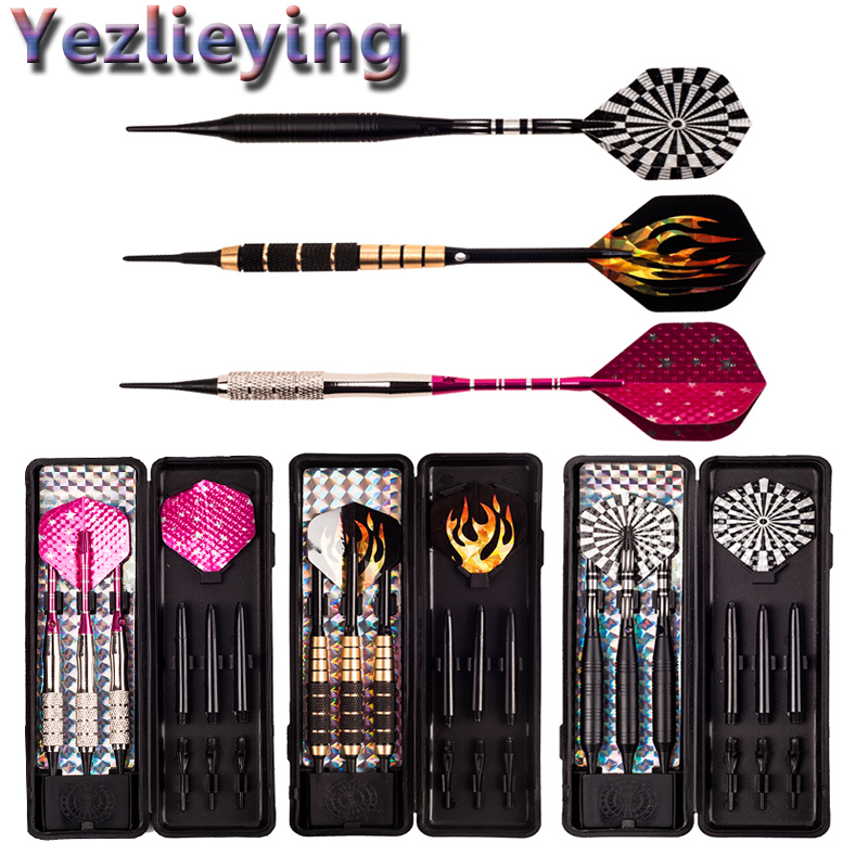High Quality Professional Darts 16/18/20 Gram Soft Tip Game Electronic Darts Needle Professional Fly Box Set Activities Darts