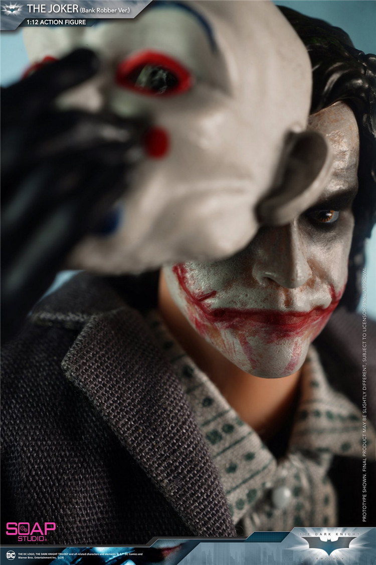 Soap Studio FG008 1/12 Batman The Joker Heath Ledger Whole Set Action Figures Bank Robber Version Collections