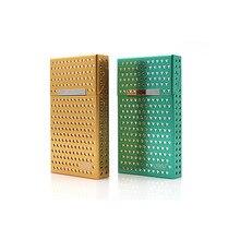 1 шт. Новый Модный чехол для сигарет, тонкая металлическая коробка для сигарет, алюминиевая Подарочная коробка, держатель для сигарет