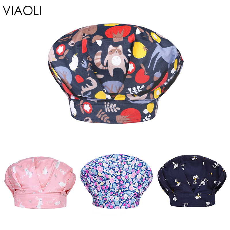 Breathable Medical Printing Surgery Cap Nurse Doctor Hat Dome Scrub Hat Doctor Nurse Clinic Eye Hospital High Quality Pharmacy