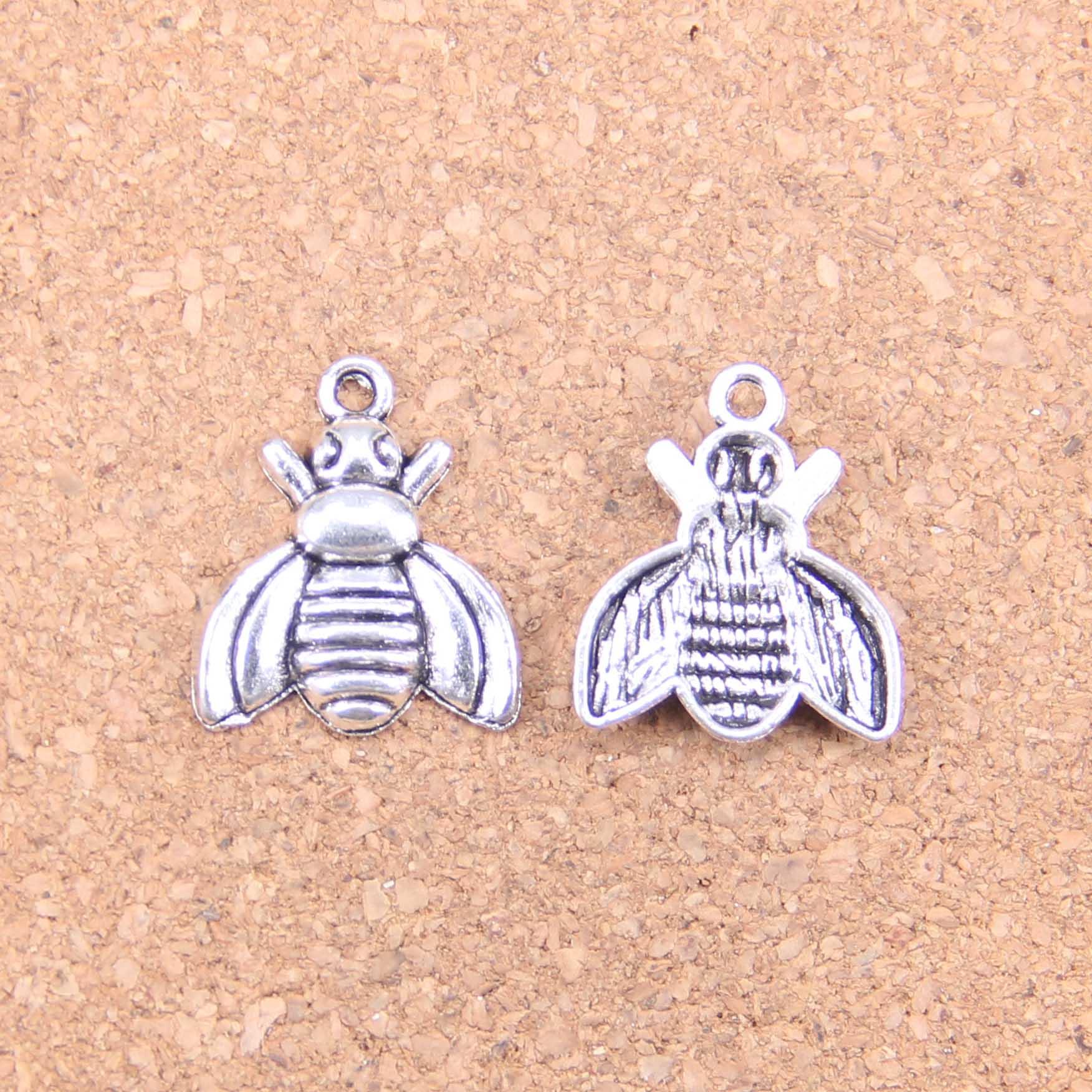 90 шт амулеты пчелы 21x18 мм старинные подвески, Винтажные Ювелирные изделия из тибетского серебра, DIY для браслета ожерелье