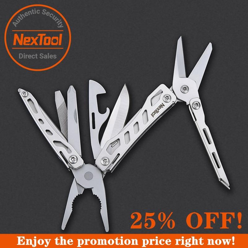 NexTool Mini Flagship 10 IN 1 Multi Functional Tool Folding EDC Hand Tool Screwdriver Pliers Bottle Opener  for Outdoor NE0138