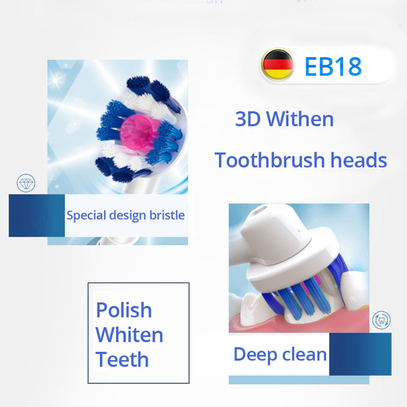 Oral B Vitality Electric Toothbrush D12 Rotate Teeth Brush With Compatible Face Cleaning Brush Inductive Charging 2 Mins Timer