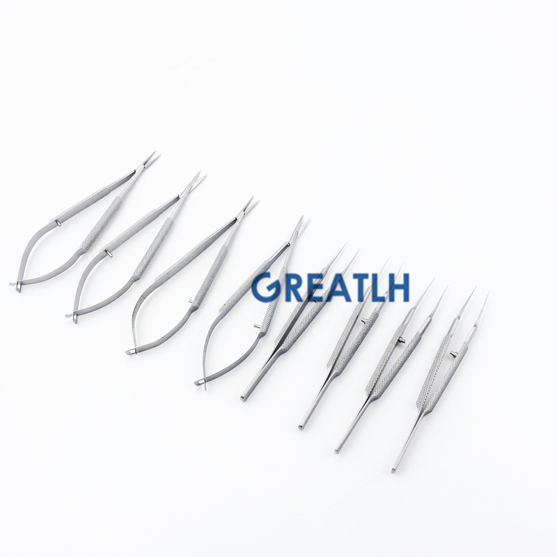 12.5cm Ophthalmic Tweezers Ophthalmic Scissors10.5CM Ophthalmic Micro Tweezer Forceps Microsurgical Ophthalmic Instruments