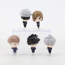 5cm Anime Figure Jujutsu Kaisen Gojo Satoru Figura Kugisaki Nobara Fushiguro Megumi Itadori Yuji Action Figure PVC Model Toys