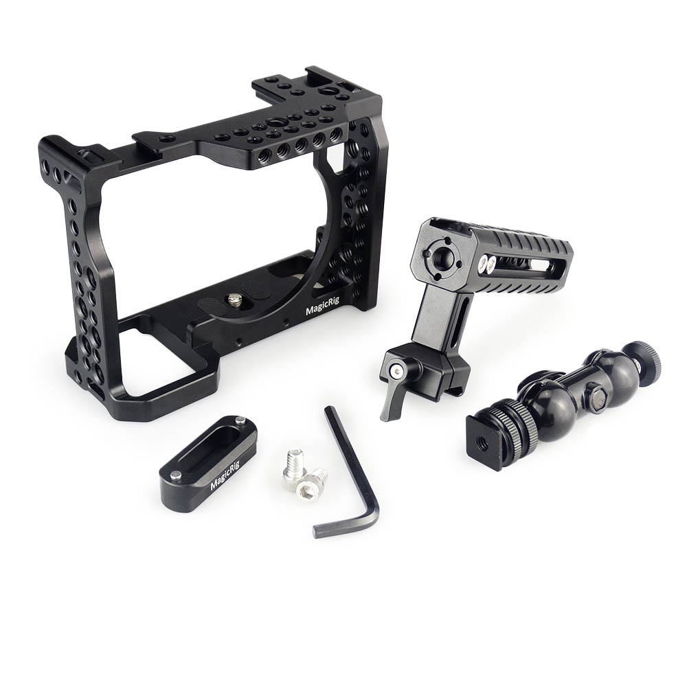 Image 4 - MAGICRIG DSLR Camera Cage with NATO Handle and Ball Head for Sony A7II /A7III /A7SII /A7M3 /A7RII /A7RIII Camera Extension Kit-in Camera Cage from Consumer Electronics