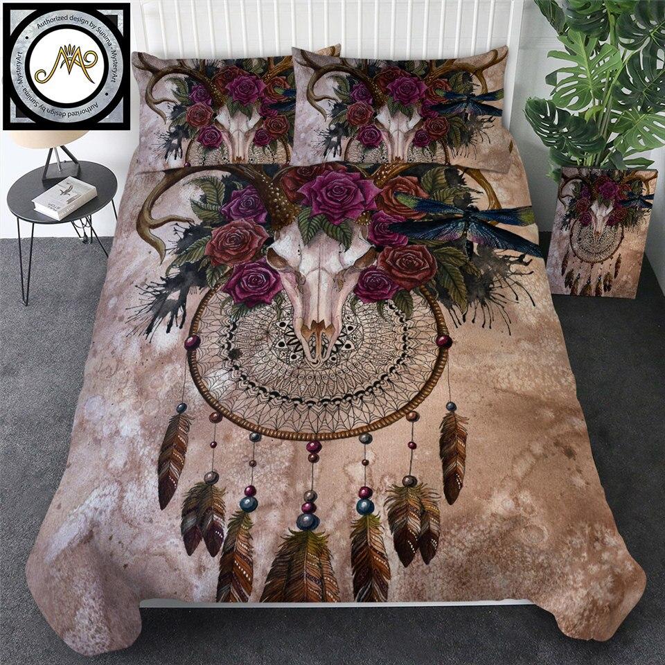 Unicorn Dreamcatcher Bedspread Sunima Bed throw Blanket Roses Sherpa Fleece