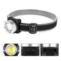 USB Rechargeable Headlamp COB LED Headlight Head Light Flashlight Dropshipping LED Headlamp Waterproof High Brightness Headlight|Outdoor Tools|Sports & Entertainment -