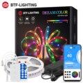 Dreamcolor Светодиодные ленты светильник работы при прослушивании музыки по Bluetooth APP Управление RGB IC гибкий светодиодный светильник полосы для к...