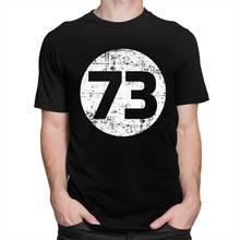 Vintage la teoría del Big Bang 73 T camisa de los hombres de manga corta 100% Camiseta de algodón Sheldon Cooper Geek camiseta TBBT TV Tops Tee Merch