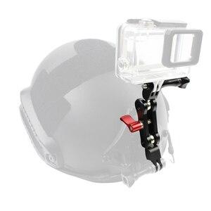 Image 2 - Mocowanie ramienia magicznego ze stopu aluminium podwójne złącze obrotowe z głowicą obrotową 360 obrót dla kamera sportowa Gopro dla Osmo Action