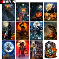 "HOMFUN Full Square/Round Drill 5D DIY Diamond Painting ""Halloween scenery"" Embroidery Cross Stitch 5D Home Decor Gift"