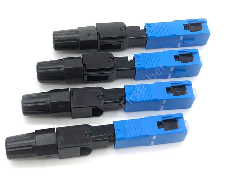 SC UPC szybkie złącze 10/100/200 sztuk Ftth Optical Connectos narzędzie do złącza osadzonego Ftth zimne włókno szybkie złącze UPC
