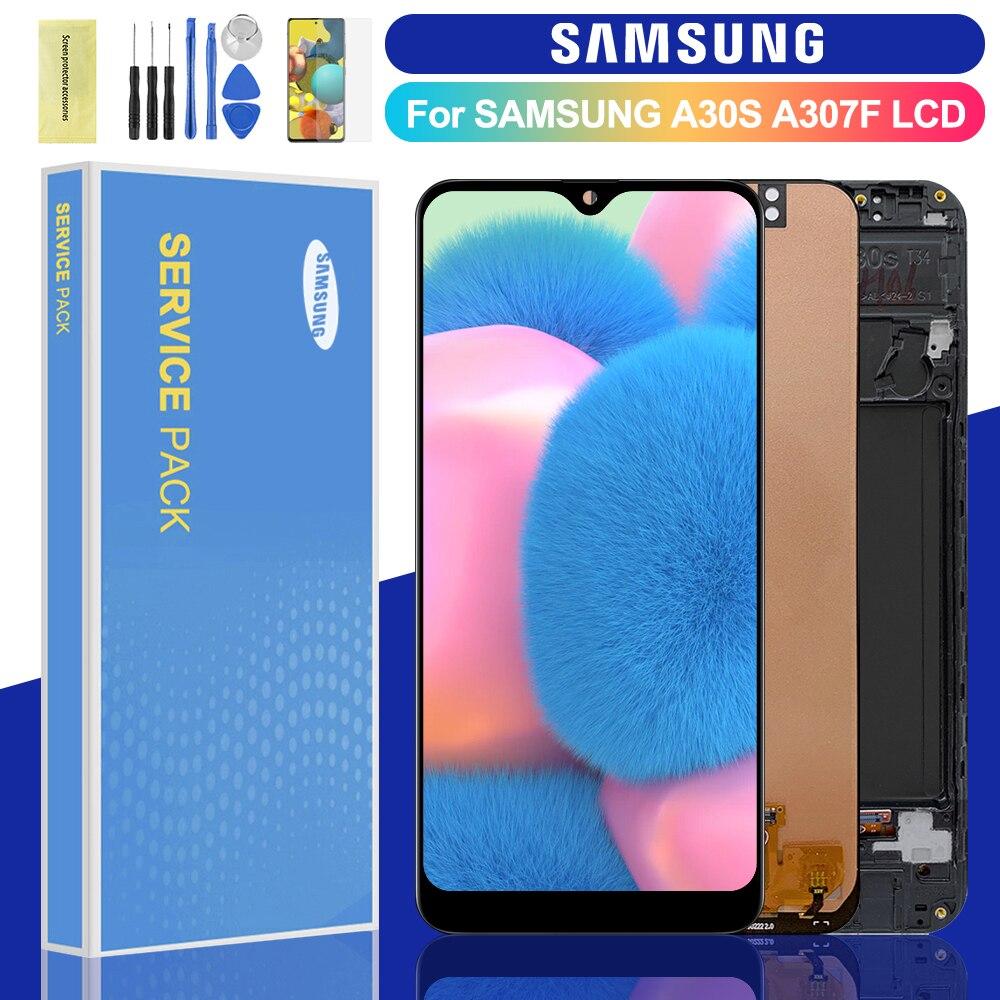 ЖК-дисплей для Samsung Galaxy A30s, сенсорный экран с дигитайзером в сборе для Samsung Galaxy A30s, A307, A307F, A307G, A307YN, ЖК-экран