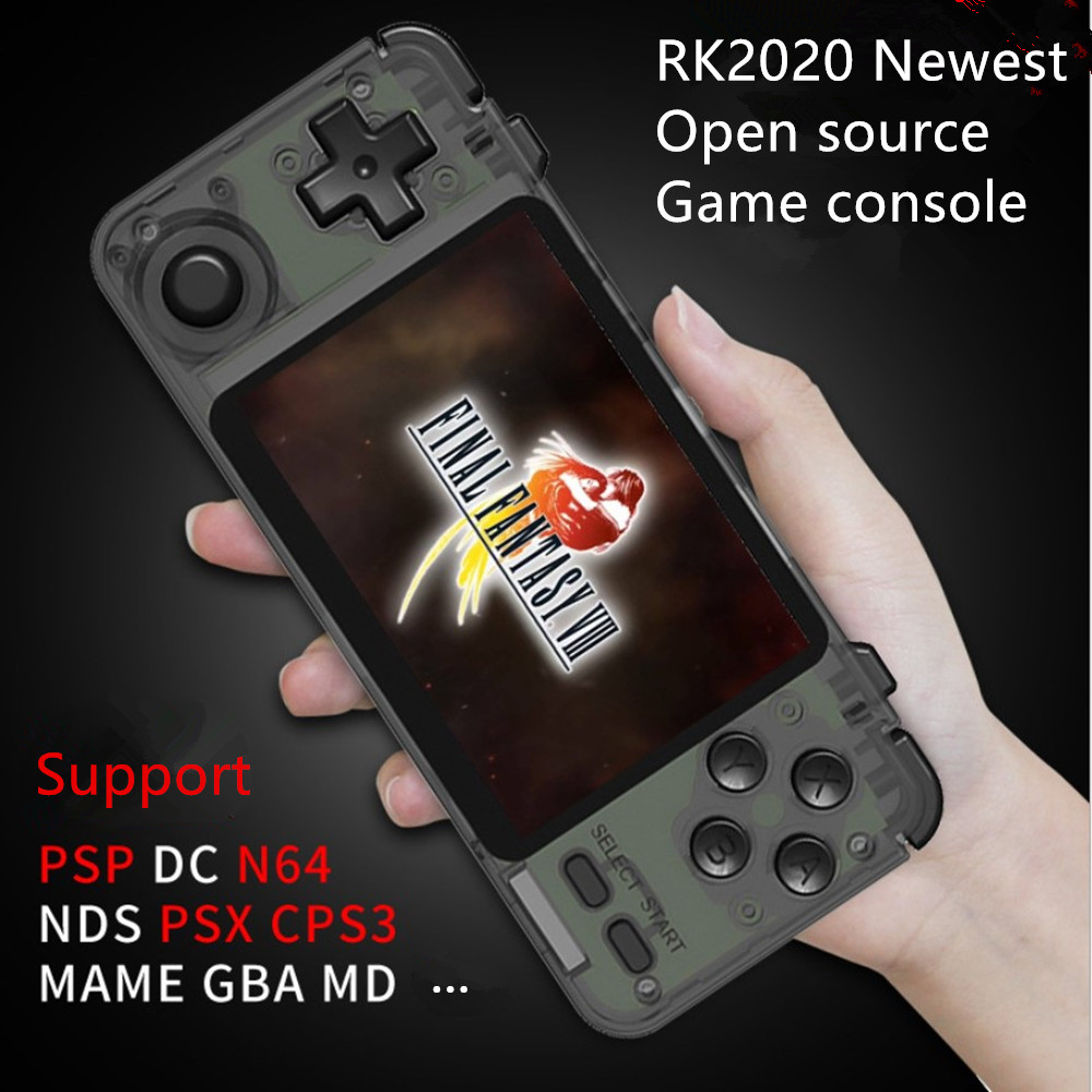 New RK2020 Retro Game Console PS1 N64 Games Video Game Player 3.5inch IPS Screen Handheld Game Consoles Retro Gaming Players Box