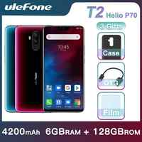 "Ulefone T2 Smartphone Android 9.0 double 4G téléphone portable 6GB 128GB NFC octa-core Helio P70 4200mAh 6.7 ""FHD + téléphone Mobile Android"