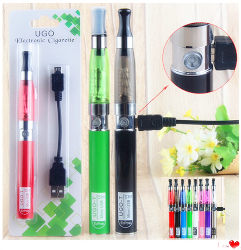 Top UGO-T Battery Hookah Ce4 Vape Pen Smoke Blister Kit Electronic Cigarette E Liquid Ego Ce4 Atomizer USB Charger 650mah E Cigs