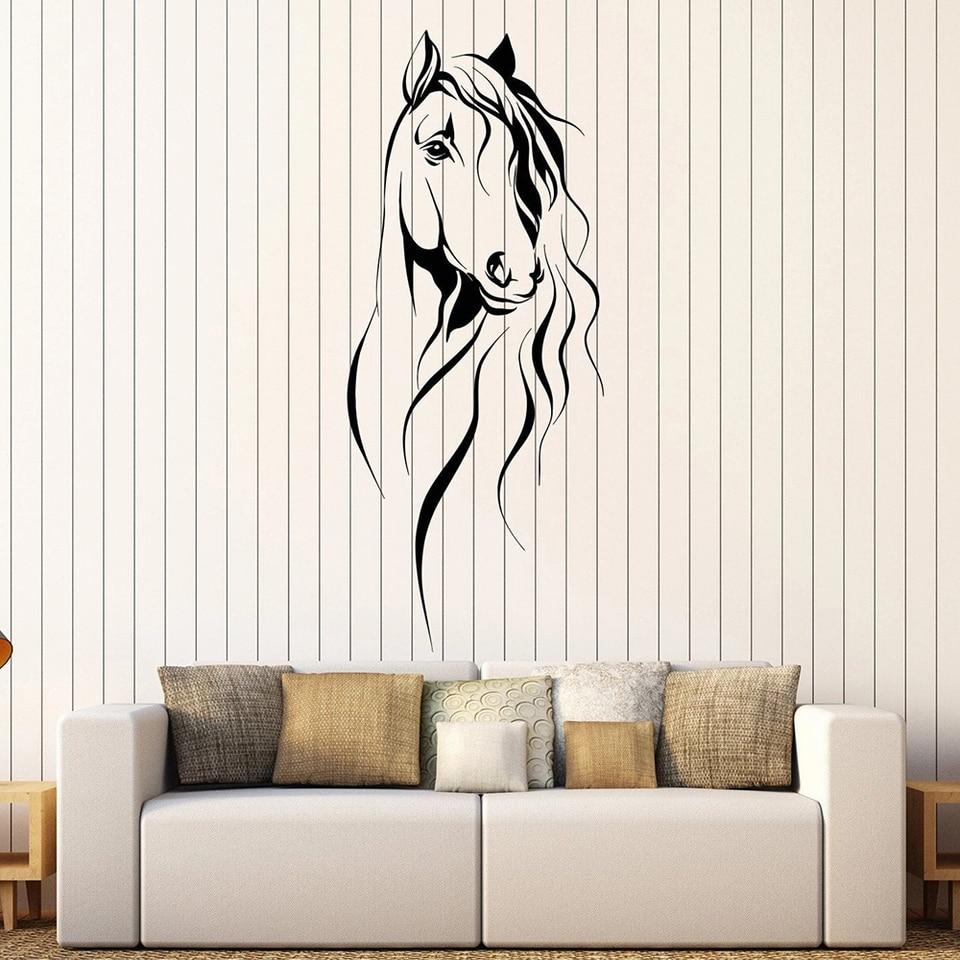 Beautiful Side Profile Horse Head Animal Wall Art Decal Sticker A69