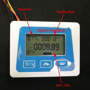 Image 4 - Medidor de Sensor de Flujo de Agua con pantalla Lcd Digital, fluímetro rotámetro, temperatura qyh