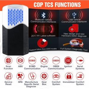 Image 2 - CDP TCS 2017.R1 multidiag pro + Bluetooth USB 2016,00 keygen V3.0 NEC relés obd2 escáner coches camiones OBDII herramienta de diagnóstico