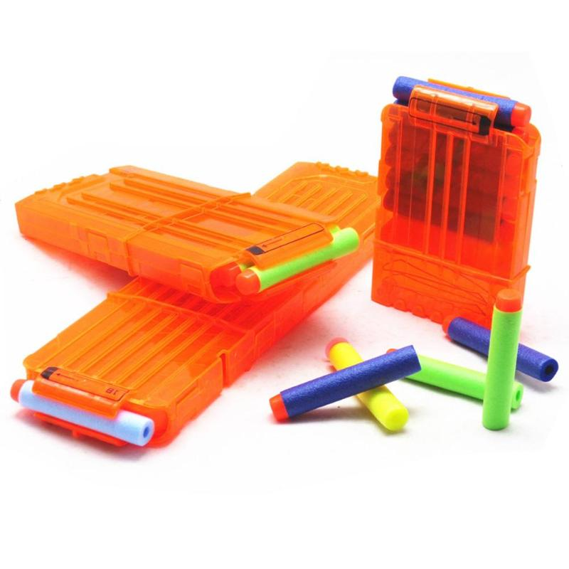 Reload Clip Lightweight And Delicate Magazines Round Darts Replacement Soft Bullet Clip Without Bullet Necessary Fun Toys
