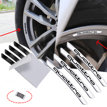 4 stücke Auto Rad Hub Power Aluminium Legierung Aufkleber Für Audi Sline Quattro Logo A1 A3 A4 A5 A6 A7 a8 Q2 Q3 Q5 Q7 TT