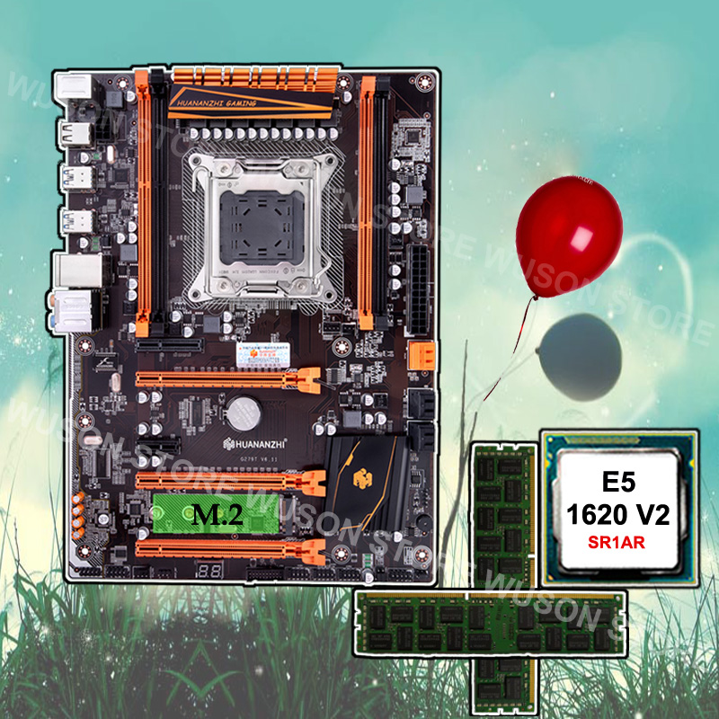 Trustworthy PC hardware supplier HUANANZHI Deluxe X79 motherboard processor <font><b>Xeon</b></font> <font><b>E5</b></font> <font><b>1620</b></font> <font><b>V2</b></font> 3.7GHz RAM 16G(2*8G) DDR3 1600 RECC image