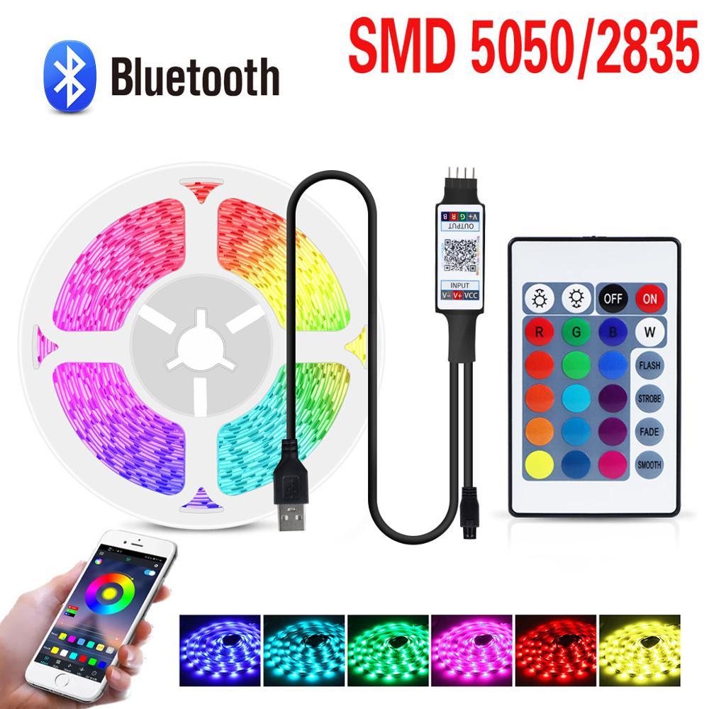 Светодиодсветильник Bluetooth-лампа для комнаты, спальни, кухни, гибкая настенная лампа, USB, 12 В/5 В постоянного тока, 5050/2835 RGB подсветсветильник те...