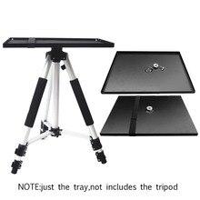 Besegad Soporte Universal de bandeja de Metal, soporte de plataforma para proyectores de trípode de 3/8 pulgadas, monitores portátiles