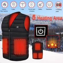 Winter Smart heating Cotton Vest USB Infrared Electric Heating Vest Flexible Thermal Warm Jacket Car Repair Wearing Equipment