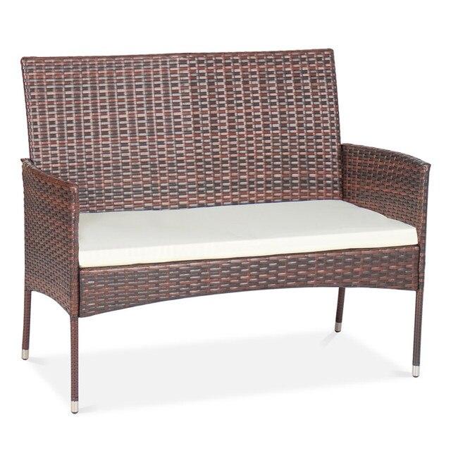 4 Pcs Rattan Patio Furniture Set 5
