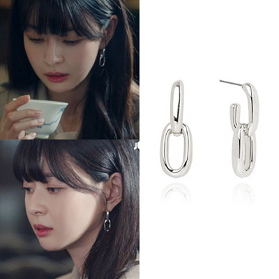 Kwon NaRa Itaewon Class Kim Da Mi ear Korean dramas TV For Women Earrings pendientes brincos ornament image